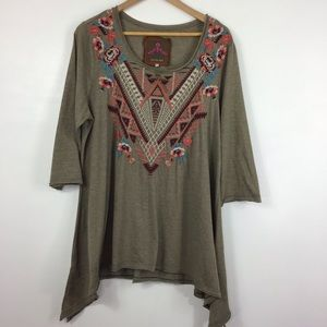 Johnny Was Embroidered Tunic 1X